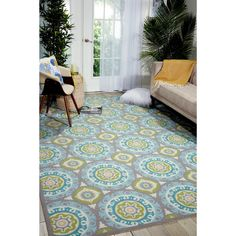 This #Rug Area #Carpet is Perfect for indoor and outdoor use, the Sun n Shade Collection offers a fresh perspective and an exciting color palette. With a unique design, this versatile rug provides a nice combination of today's style and timeless fashion.