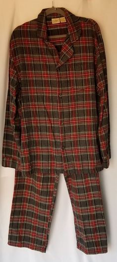 016c234e9ebf LL BEAN Gray Multi Plaid Check Cotton Flannel Pajama 2 PC Set Large Tall LT  #fashion #clothing #shoes #accessories #mensclothing #sleepwearrobes (ebay  link)