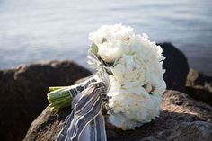 Floral Friday: Perfect Peony Bridal Bouquet by Lilacs | Southern New England Weddings | Ashley Bilodeau Photography