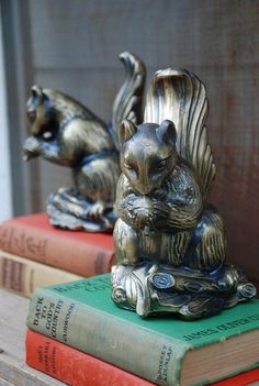 wow! squirrels! What is it about animal book ends? You can't go wrong.