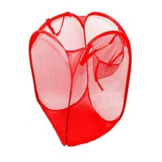 Laundry Hampers Foldable Portable Pop up Washing Clothes Laundry Basket Bag Bin Hamper Mesh Storage X X 1 Pcs (Red) Hamper Basket, Basket Bag, Laundry Storage, Laundry Hamper, Toy Storage Bags, Storage Baskets, Clothes Storage, Folding Laundry Basket, Disney Bedrooms