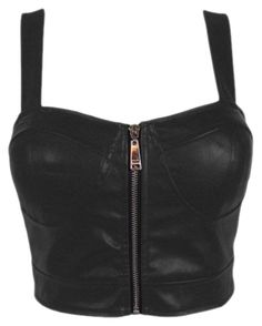 Faux Leather Zip Front Padded Cups Bustier Bralet PU Party Crop Top M& (UK Free UK Shipping on Orders Over and Free Returns, on Selected Fashi… Top Bustier, Black Bustier, Bralette Crop Top, Black Bralette, Leather Crop Top, Leather Bustier, Black Leather, Going Out Crop Tops, Going Out Shirts