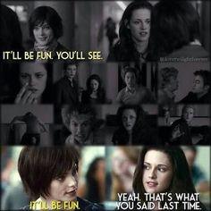Alice and Bella Twilight Saga Quotes, Twilight Saga Series, Twilight Edward, Twilight Series, Twilight Movie, Edward Bella, Funny Twilight, Twilight Poster, Vampire Twilight