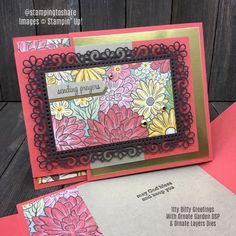 Ornate Garden Fun and Fancy Fold created by Kay Kalthoff for Stamping to Share Fun Fold Cards, Folded Cards, Paper Art, Paper Crafts, Hand Stamped Cards, Get Well Cards, Thank You Gifts, Diy Craft Projects, Your Cards
