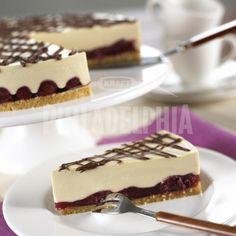 Kapučíno dort s třešněmi - Dezerty - recepty - Sýr Philadelphia