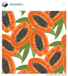 Bold colorful papaya print