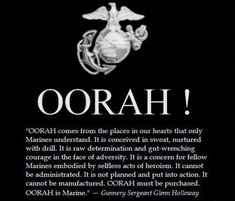 """Nothing is as chilling as being an a room with over Marines all yelling """"OORAH! I heard that - no pun intended. Marine Corps Quotes, Marine Corps Humor, Usmc Quotes, Military Quotes, Military Humor, Military Love, Us Marine Corps, Marine Corps Birthday, Military Signs"""