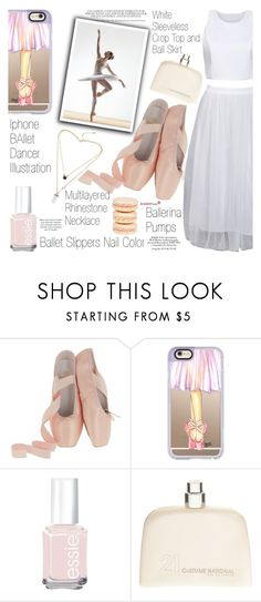 """Ballet class"" by vanjazivadinovic ❤ liked on Polyvore featuring Casetify, Essie, Mikimoto, COSTUME NATIONAL, ballet, sammydress, polyvoreeditorial and Poyvore"