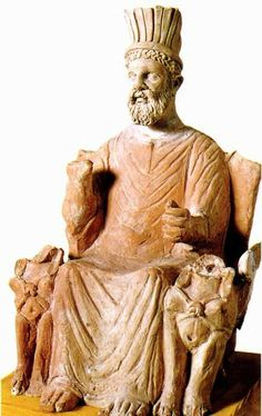 Baal Hammon, a Carthaginian and Phoenician god. God of the sky in Carthage and the god of fertility and regeneration in Phoenicia.