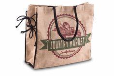 Mona B Country Market Burlap Tote Bag with Coin Purse Burlap Purse, Bag Making, Coin Purse, Reusable Tote Bags, Marketing, Handbags, Country, Cucumber, Crossbody Bags