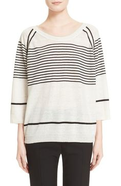 Max Mara 'Velia' Stripe Linen Sweater available at #Nordstrom