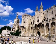 The Palais des Papes (Pope Palace) is a historical palace in Avignon, southern France, one of the largest and most important medieval Gothic buildings in Europe Haute Provence, Provence France, Visit France, South Of France, Spain Travel, France Travel, France Europe, Places To Travel, Places To Visit