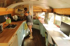 My wife and I have lived in a converted school bus for 365 days now. Here's what we've loved (and a few things we haven't loved) about the skoolie life. School Bus Tiny House, School Bus Camper, Bus Living, Tiny Living, Bus Life, Camper Life, Diy Camper, Camper Ideas, Converted School Bus
