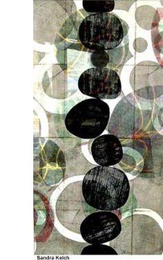 Sandra Kelch, Monotype Collage, Printmaking class
