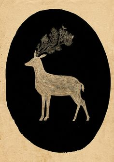 Deer Doodle by Lizzy Stewart, via Flickr