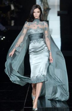 from obscure to demure — Mariacarla Boscono at Elie Saab Haute Couture F/W...
