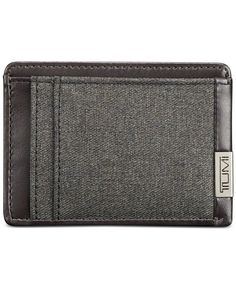 From the Tumi Alpha collection, this ruggedly stylish money clip card case has a slim profile that's perfect for lightening your load. | Polyester with leather trim | Wipe clean | Imported | Money cli