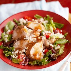 Thyme-Garlic Chicken Breasts Thyme-Garlic Chicken Breasts  Tender slow-simmered chicken seasoned with herbs and orange juice tops fresh greens, juicy tomatoes, tangy olives, and creamy feta cheese.  Thyme-Garlic Chicken Breasts  12345  Makes: 6 servings  Prep 10 mins  Cook 6 hrs to 7 hrs (low) or 3 to 3-1/2 hours (high)-