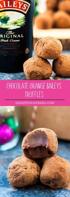 Homemade Baileys Truffles are the perfect gift for family or friends. So indulgent and rich, yet perfectly sized and tasty. #food #dessert