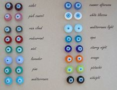 Glass Evil Eye Stud Earrings by cocolocca on Etsy de9a6bfbcb4c