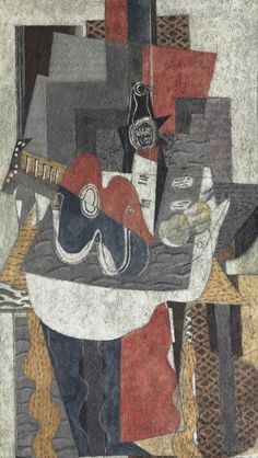 Guggenheim Museum Bilbao, Spain (6/13/2014 - 9/21/2014) 1975.59 Georges Braque, Guitar and Bottle of Marc on a Table