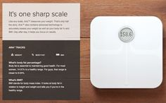 Fitbit Aria - A smart scale that calculates your body fat and BMI http://www.fitbit.com/aria