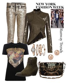 """""""A Little Bit of Flash"""" by gayle-storm ❤ liked on Polyvore featuring Dondup, Ann Demeulemeester, Vivienne Westwood Anglomania, Frye, Gucci, Anne Klein and Bloomingdale's"""