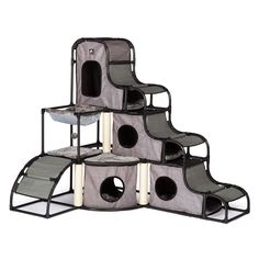 Prevue Pet Products Catville Tower - Gray ** Discover this special product, click the image(This is an affiliate link and I receive a commission for the sales) : Cat Condo Tree Tower Cat Towers, Hamster, Ferret Toys, Cat Climbing, Cat Condo, Cat Room, Pet Furniture, Maine Coon Cats, Cat Supplies
