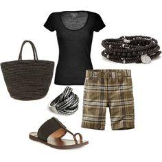 Plaid Shorts, created by janene-krug on Polyvore
