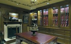 hunters-gun-room-design-with-fireplace