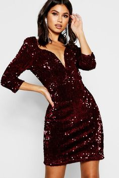 Sequin Bodycon Dress Boujee Outfits, Classy Outfits, Fashion Outfits, Stylish Outfits, Embellished Dress, Sequin Dress, Bodycon Dress, Dusty Pink Bridesmaid Dresses, Festa Party