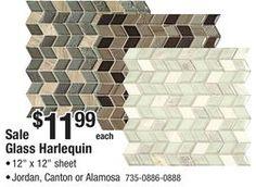 Mohawk Gl Harlequin Mosaic Tile From Menards 11 99