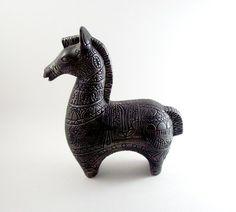 Ceramic/metal mid century horse