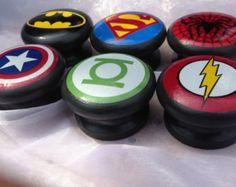 Superhero Logo Children's Furniture Knob Superman by SurfaceCandy