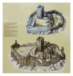 Fantasy World Map, Fantasy City, Fantasy Castle, Medieval Houses, Medieval Castle, Castle Layout, Buildings Artwork, Medieval Drawings, Dungeons And Dragons Art
