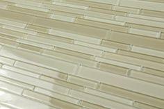 "Amazon.com: ""Dreamy Blend"" Staggered Linear Glass Subway Tile for Kitchen Backsplash or Bathroom from Bodesi - (sample - 4""x6""): Home Improv..."
