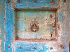 Door Photography, Old Doors, Architecture, Cottage, Rustic Photography, Blue Art, Shabby Chic Art, Blue Decor, Chippy Paint, Abstract Art on Etsy, $30.00