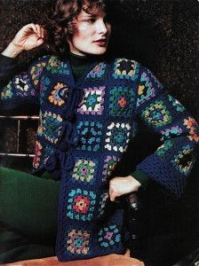 Finnfemme: Groovy 70s Granny Square Jacket Crochet Pattern