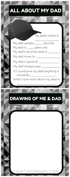 """Free """"All about my Dad"""" printable questions for the kids to give to him on Father's Day!"""