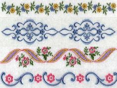 Linens 2 Machine Embroidery Designs http://www.designsbysick.com/details/linens2