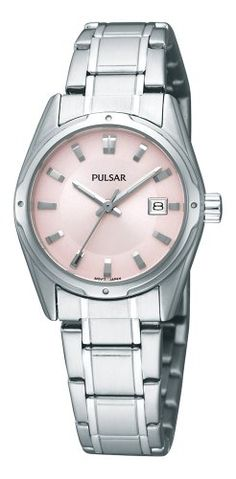 Pulsar Womens PXT809 Functional Pink Dial Watch ** You can find out more details at the link of the image.