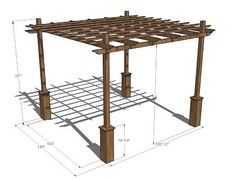 Build your own pergola- free DIY plans to create an outdoor pergola - Awesome.. need one of these over the deck!