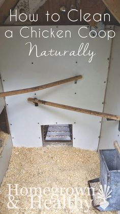 How to clean a chicken coop naturally // a tried-and-true-all-natural-coop-cleaning regimen that will take you less than 30 minutes only a few times a year. // (Chicken Coop Run)
