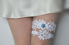 Lace Garter Set Lace Wedding Garter Set  by BeadsBroochesBridal, $35.90
