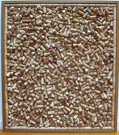 Abstract wine cork board. Ultimate piece of 3D wine cork art.