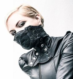 Leather Face Mask from Delicious Boutique & Corseterie My dream piece!