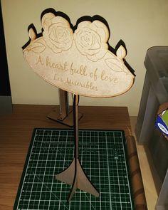 Chic table name centre pieces. #jld #weddingseason #weddings #weddingday #wedding #new #engraved #etsy #weddingfayre #order #instagram