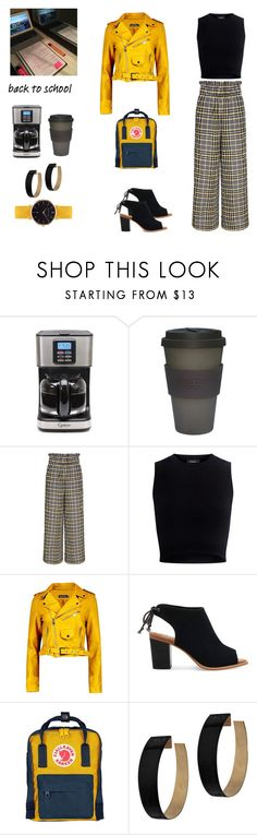 """""""Honey (and Black), It's Back to School (contest)"""" by scolab ❤ liked on Polyvore featuring Capresso, Ganni, Theory, Boohoo, TOMS, Fjällräven, Zimmermann and Abbott Lyon"""