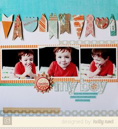 My Boy By Kelly Noel featuring Bow Ties from BasicGrey - Scrapbook.com