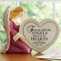 Need a unique gift? Send In Our Hearts Memorial Angel and other personalized gifts at Personal Creations. Garden Items, Memorial Gifts, Personalized Gifts, First Love, Unique Gifts, Memories, Hearts, Beautiful, Gold Ring